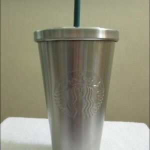 Beautiful silver stainless steel tumbler 16 oz